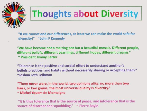 Diversity Quotes to Ponder